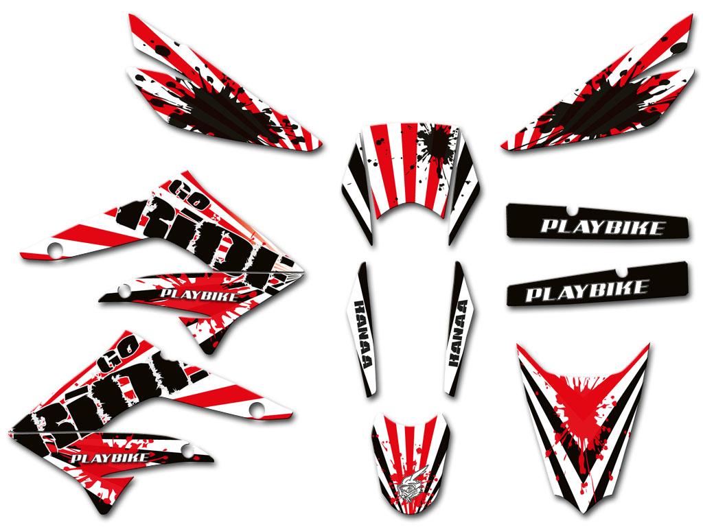 Derbi Drd X Treme Stripe Graphics Series Playbike